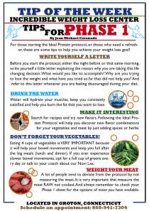 diet tips tips for phase 1 ideal protein of groton ct