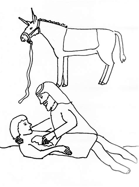 coloring pages for the good samaritan story bible story coloring page for the good samaritan free