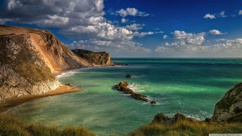 blue lagoon durdle door dorset england  hd desktop