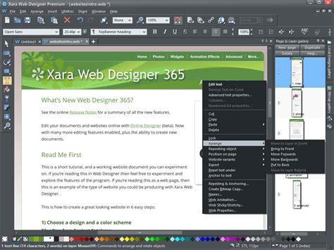 Xara Template by Xara Web Designer 8 Templates Pinprogs