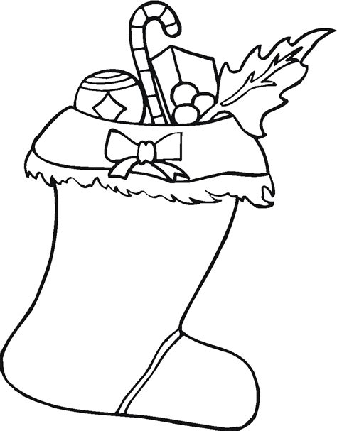 large christmas stocking coloring page free cool stocking coloring pages