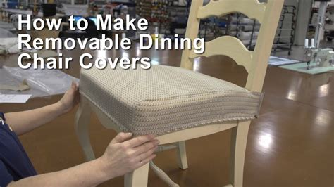 how to make dining room chair slipcovers how to make removable dining chair covers youtube