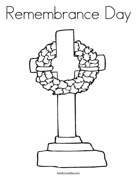 printable coloring pages remembrance day remembrance day coloring page twisty noodle