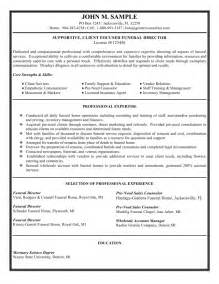 Funeral Home Director Cover Letter by Funeral Director Resume