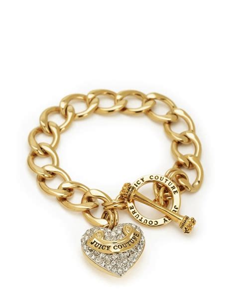 Pave Banner Heart Starter Bracelet   Juicy Couture