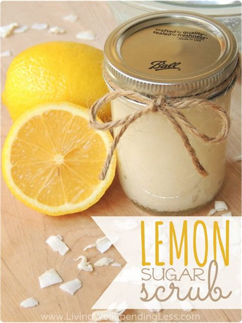 Handmade Scrub - diy lemon sugar scrub living well spending less 174