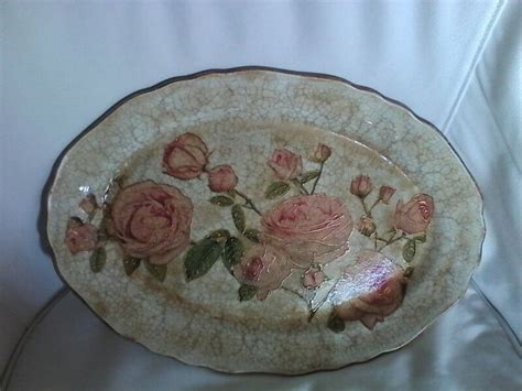 Decoupage On Plates - porcelain plate decoupage my crafts