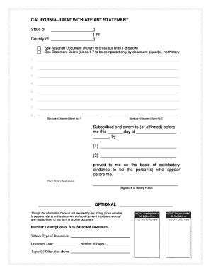 california affiant statement fill online, printable