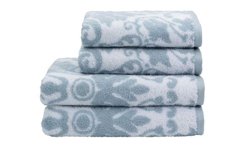 Blue Patterned Towels Uk | blue patterned bath towels colour trend beautiful blues
