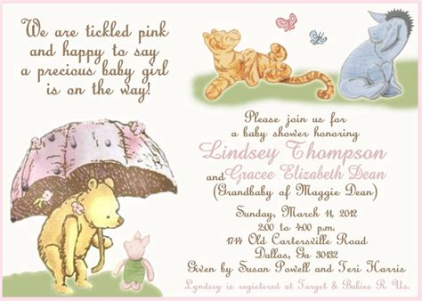 Classic Pooh Invitations Baby Shower by Baby Shower Invitation Classic Pooh 11 00 Via Etsy