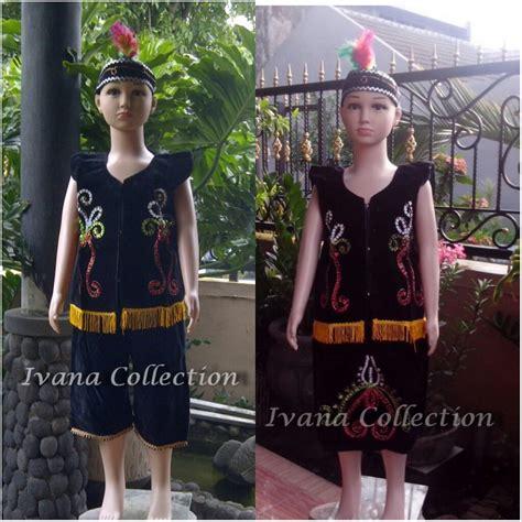Pakaian Adat Anak Sd Sepasang baju adat dayak kalimantan jual baju daerah profesi