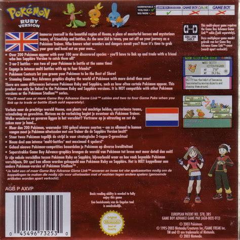 emuparadise net pokemon ruby version box shot for game boy advance gamefaqs
