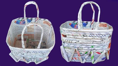 paper quilling basket tutorial diy newspaper basket paper quilling art my crafts and