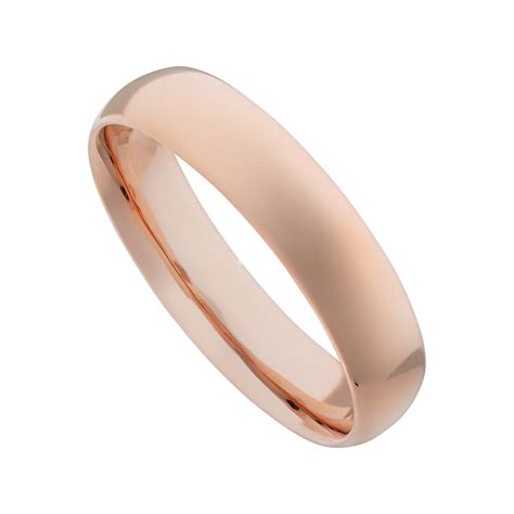 rose gold 9ct rose gold 5mm classic court wedding ring jewellery
