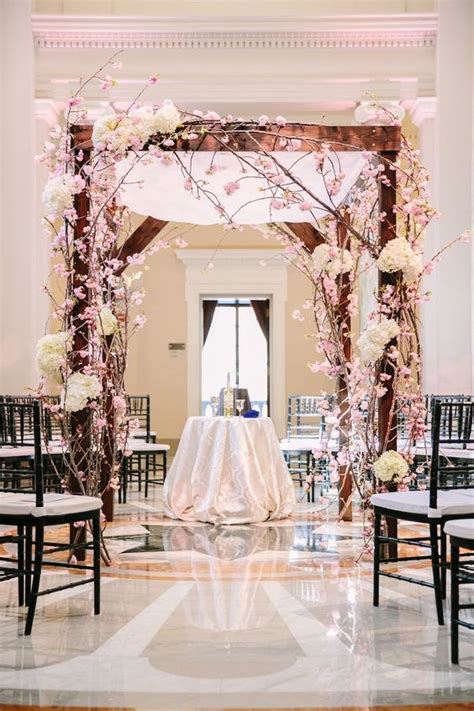 Japanese Wedding Arch by 41 Cherry Blossom Wedding Ideas Weddingomania