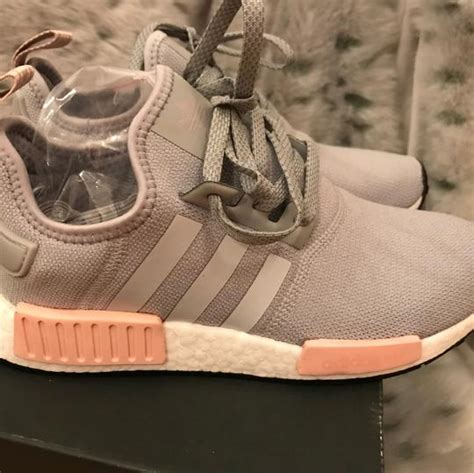 adidas grey and pink nmd r1 sneakers size us 8 regular m b tradesy