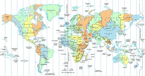 usa time zone map gmt world time zone map
