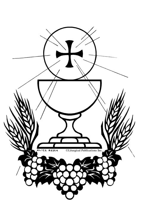 free coloring pages of holy communion