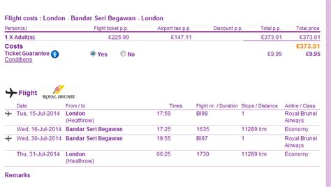 error fare super cheap flights  brunei  london