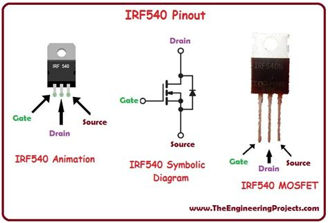 Transistor Mosfet Irf630n Irf introduction to irf540 the engineering projects