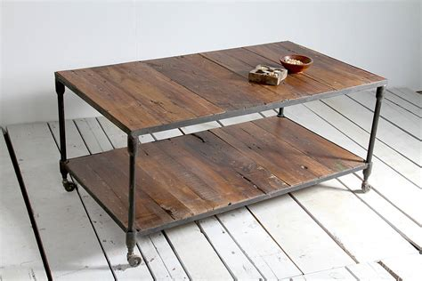 reiner upcycled pipe coffee table by tree furniture