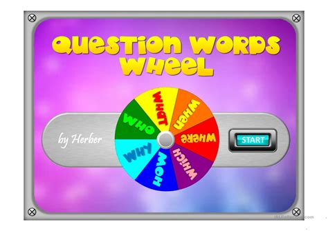 question words wheel worksheet free esl projectable worksheets made by teachers