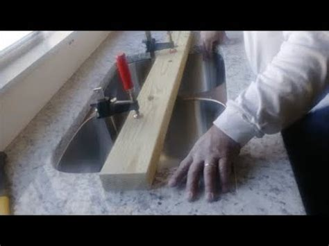 How To Attach An Undermount Sink by How To Install An Undermount Kitchen Sink To A Granite