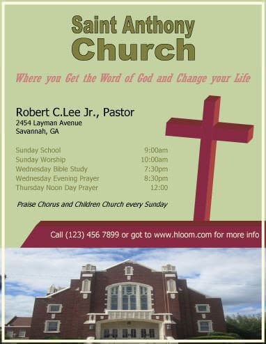 free church flyer template 12 free flyers to promote church events