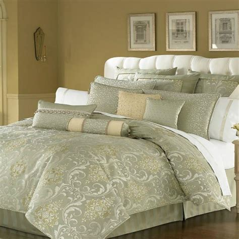 cream king comforter waterford linens venise king comforter sage gold cream ebay