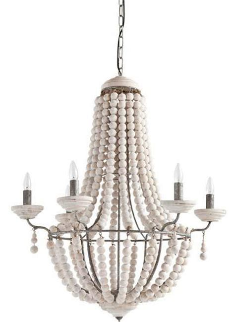 White Washed Wood Chandelier White Washed Wooden Chandelier Centuria