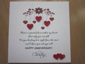Handmade Cards For Husband - details about personalised handmade anniversary