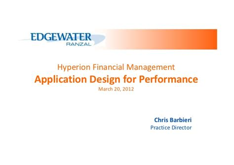 application design for high performance and availability hyperion financial management application design for
