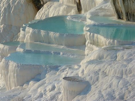 pamukkale thermal pools turkey thermal pools of pamukkale turkey filled with turquoise water