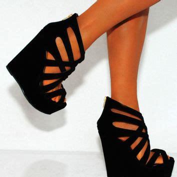 High Heels Wadges Lld 354 black beige wedged wedges summer from saffron109 on ebay