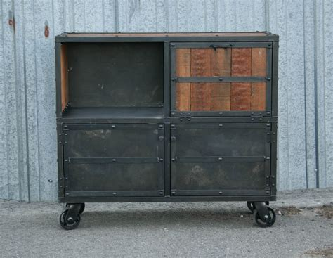 Industrial Bar Cabinet Combine 9 Industrial Furniture Industrial Bar Cart Liquor Cabinet