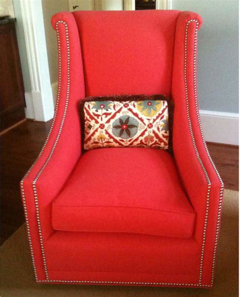 buckhead upholstery wing back chair contemporary armchairs accent chairs