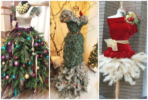 christmas tree dress form ideas youtube