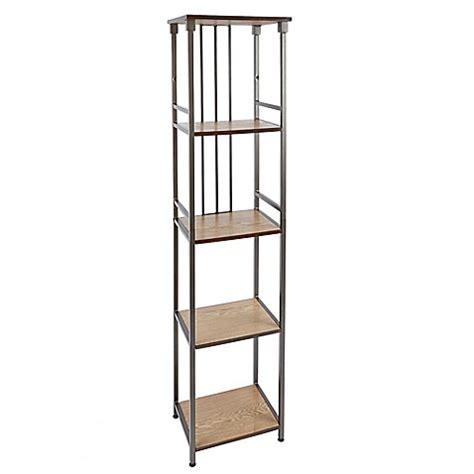 floor shelves for bathroom buy silverwood 5 tier bathroom floor shelf in gunmetal