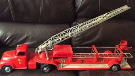 vintage tonka fire truck memories of christmas morning long ago eric mondschein