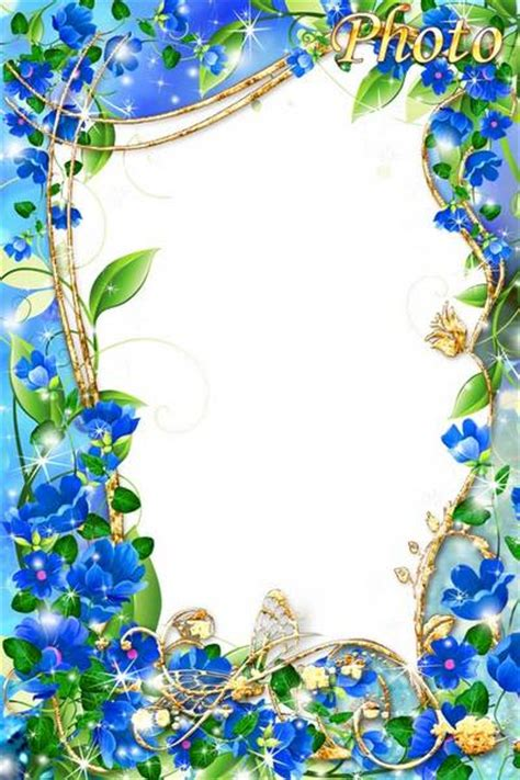 blue flowery frames pictures to pin on pinsdaddy