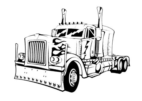 free cartoon garbage truck coloring pages