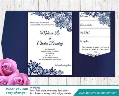 wedding invitation sle sale printable pocket wedding invitation template set