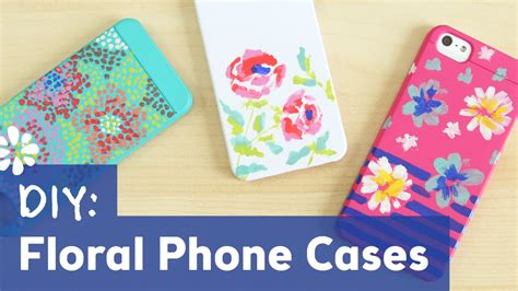 phone cover design hand made diy easy floral phone cases sea lemon youtube