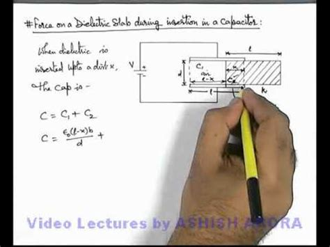 capacitor 1 has a dielectric of rubber between its parallel plates 36 class 12 physics capacitance on a dielectric in in capacitor ashish