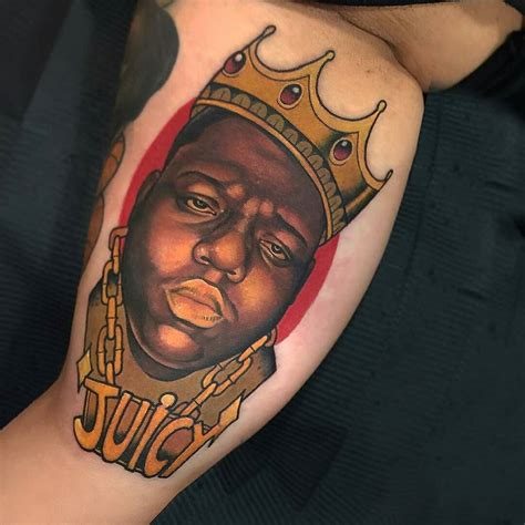 notorious tattoo notorious big by guindero at blue cat in