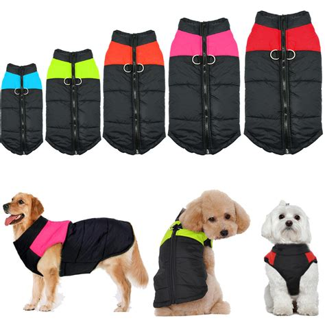 wash color clothes in warm or cold waterproof small large pet clothes winter warm padded