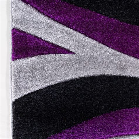 purple and black rug contemporary purple black wave runner rug kukoon