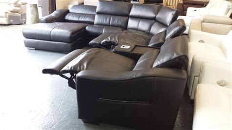 sofa with ipod dock elixir black leather electric recliner corner sofa with