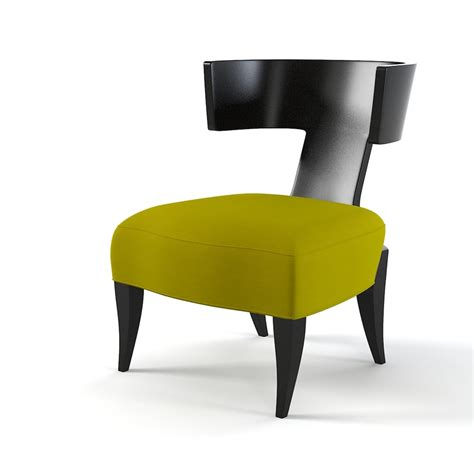 modern klismos chair 3d model of donghia klismos chair
