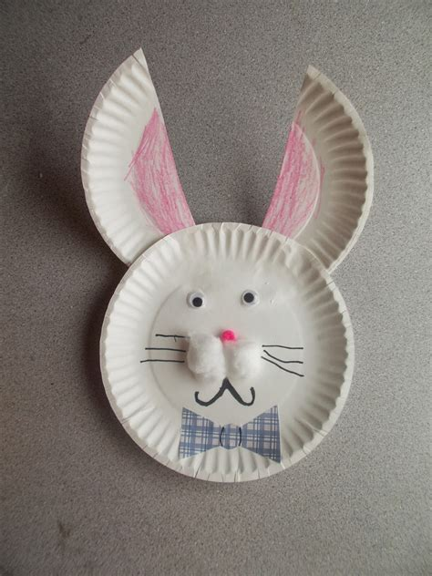 easter bunny paper plate craft chipman s corner preschool paper plate easter bunny